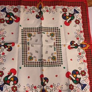 Square Tablecloth Roosters